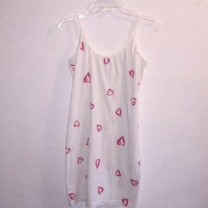 Victoria Secret Shorter Cotton Heart Nightgown